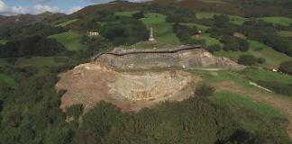 Restos del castillo de Amaiur