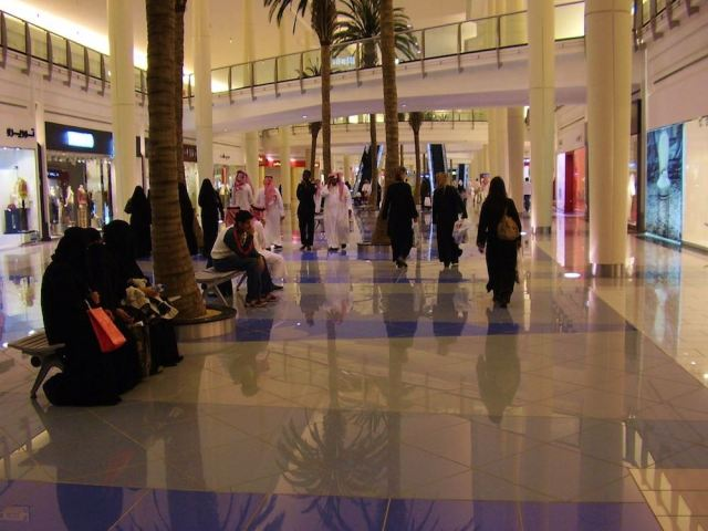 At one of the many shopping malls in Riyadh.