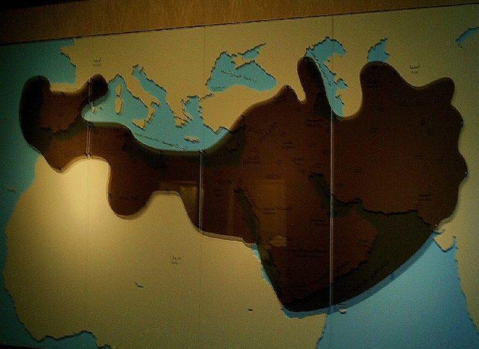 Mapa de los antiguos territorios saudíes, Museo Nacional, Riyadh