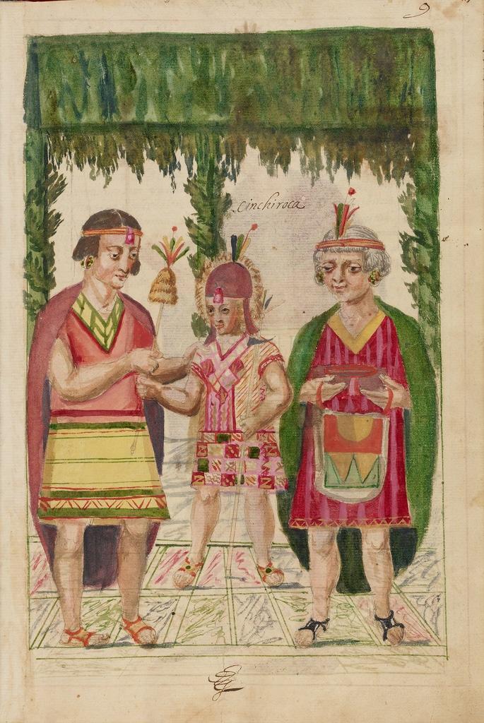Ilustración de la Historia general del Piru de Martín de Murúa (Digital image courtesy of the Getty's Open Content Program)