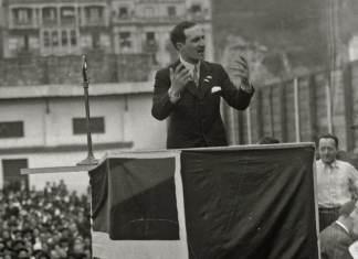 El Lehendakari Aguirre en el Aberri Eguna de 1933