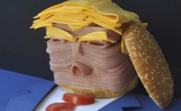 """Fast food Trump"". Trump visto por Asier Sanz gana un premio Italia"