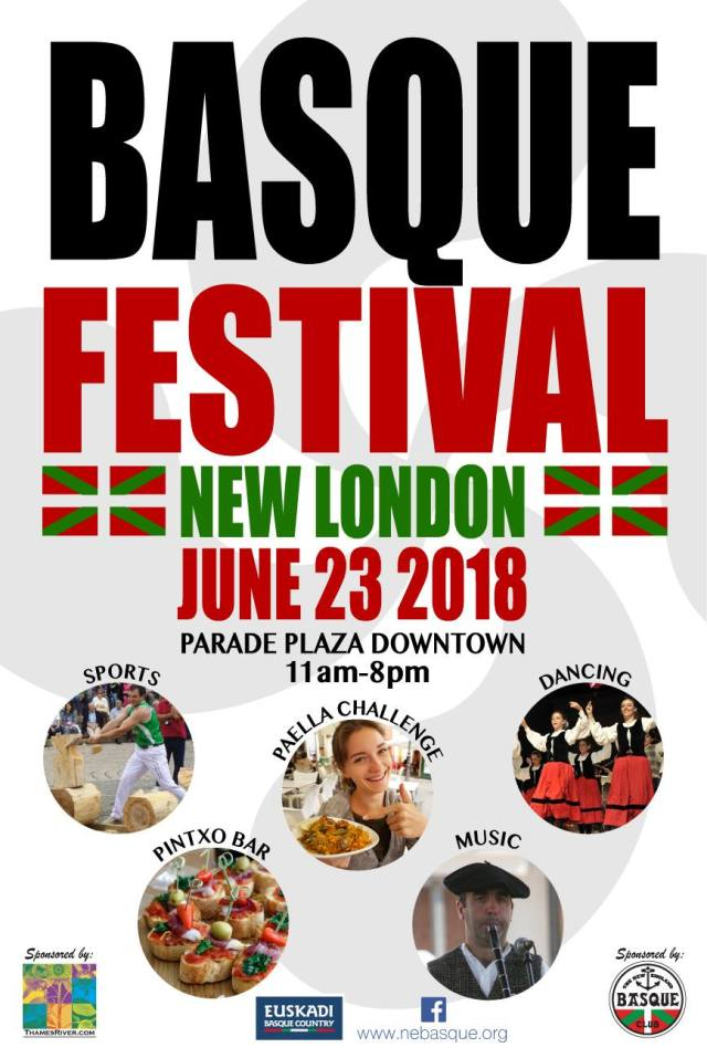 Cartel del Basque Festival 2018 organizado por el New England Basque Club