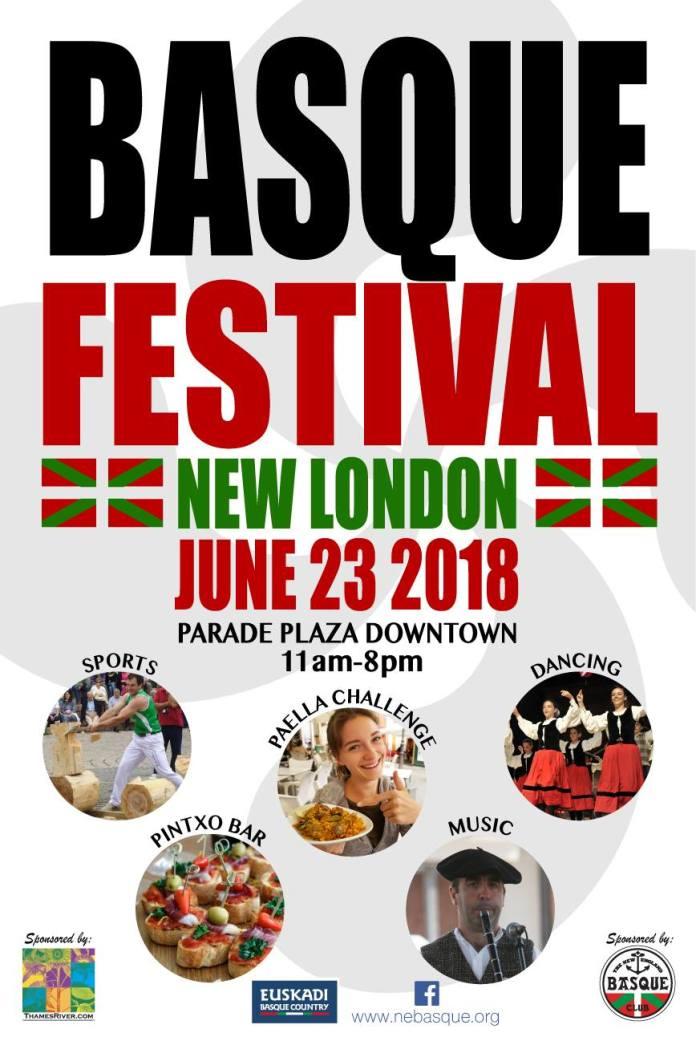Cartel del Basque Festival 2018 organizado por el New England Basque Club