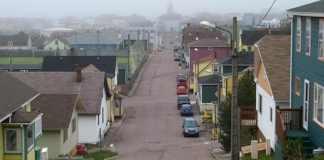 Vista de Saint Pierre en Saint en Saint Pierre et Miquelon