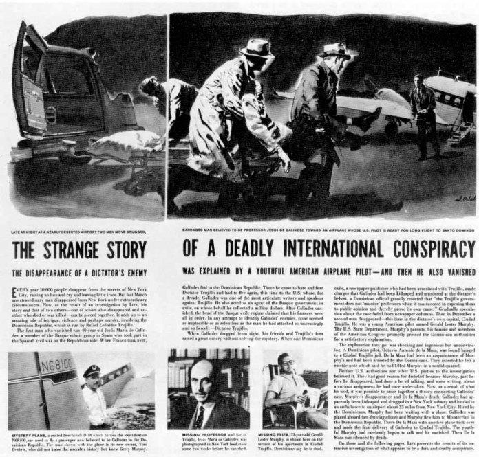La revista Life informa del secuestro y desaparición de Galindez (18-3-1957)