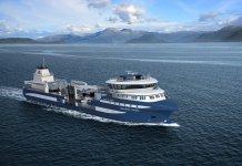 Representación del buque que Murueta está construyendo para la compañía noruega Alsaker Fjordbruk