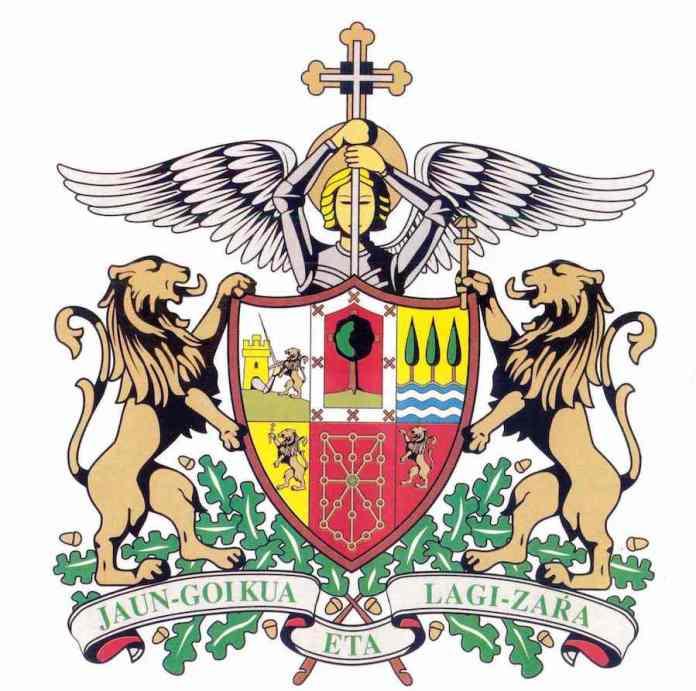 Escudo de Euzkadi con San Miguel de Aralar
