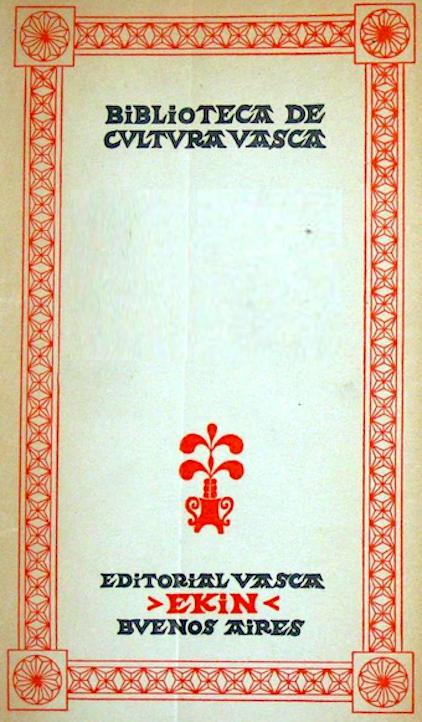 Portada de los libros de la Editorial Vasca Ekin de Buenos Aires