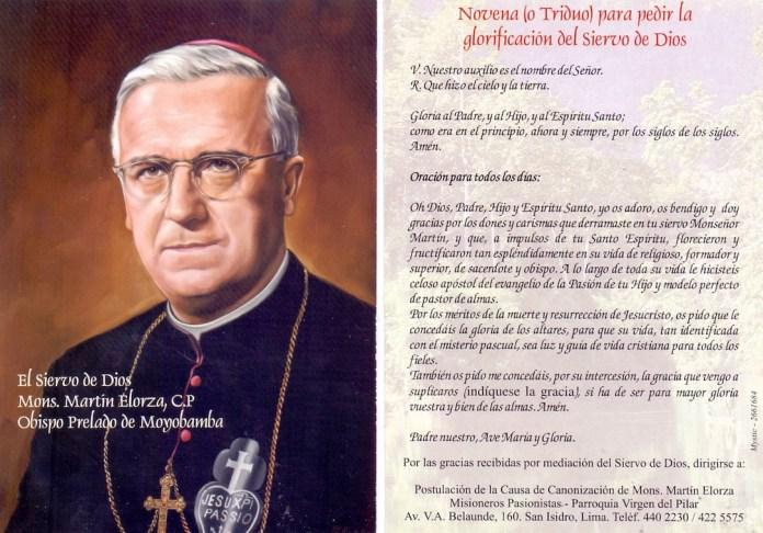 La Causa para lLa Causa para la Canonización de Martín Elorza se presentó en Roma el 18 de octubre del 2004 a Canonización de la Causa en Roma el 18 de octubre del 2004