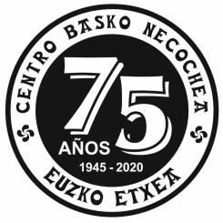 Logo 75 años Euzko Etxea Necochea