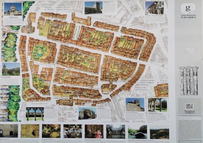 plano turistico de Zangoza (Sanguesa)