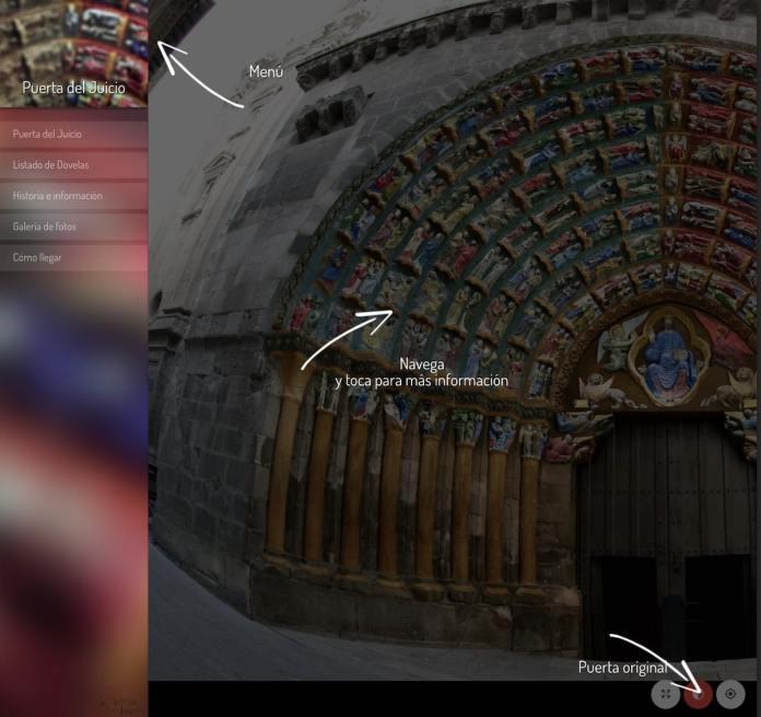 Portada de la versión web para navegar por la Puerta del Juicio de Tudela
