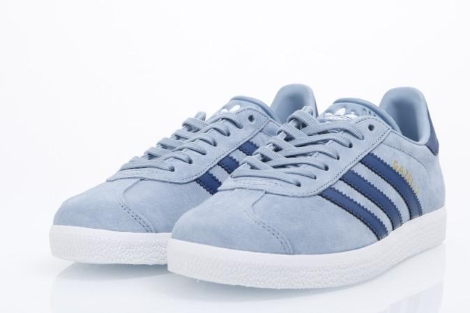 Adidas originals ladies gazelle sneakers tactile blue mysteri blue
