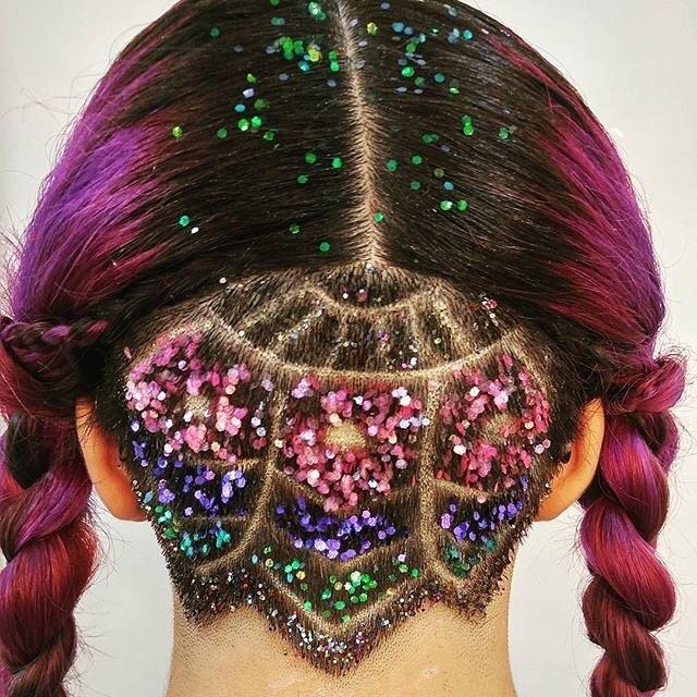 Glitter Undercuts Opvallende beauty trends