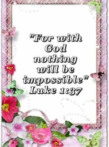 bible varses wallpaper faith (Luke 1:37)