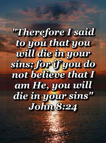 bible varses wallpaper faith (John 8:24)