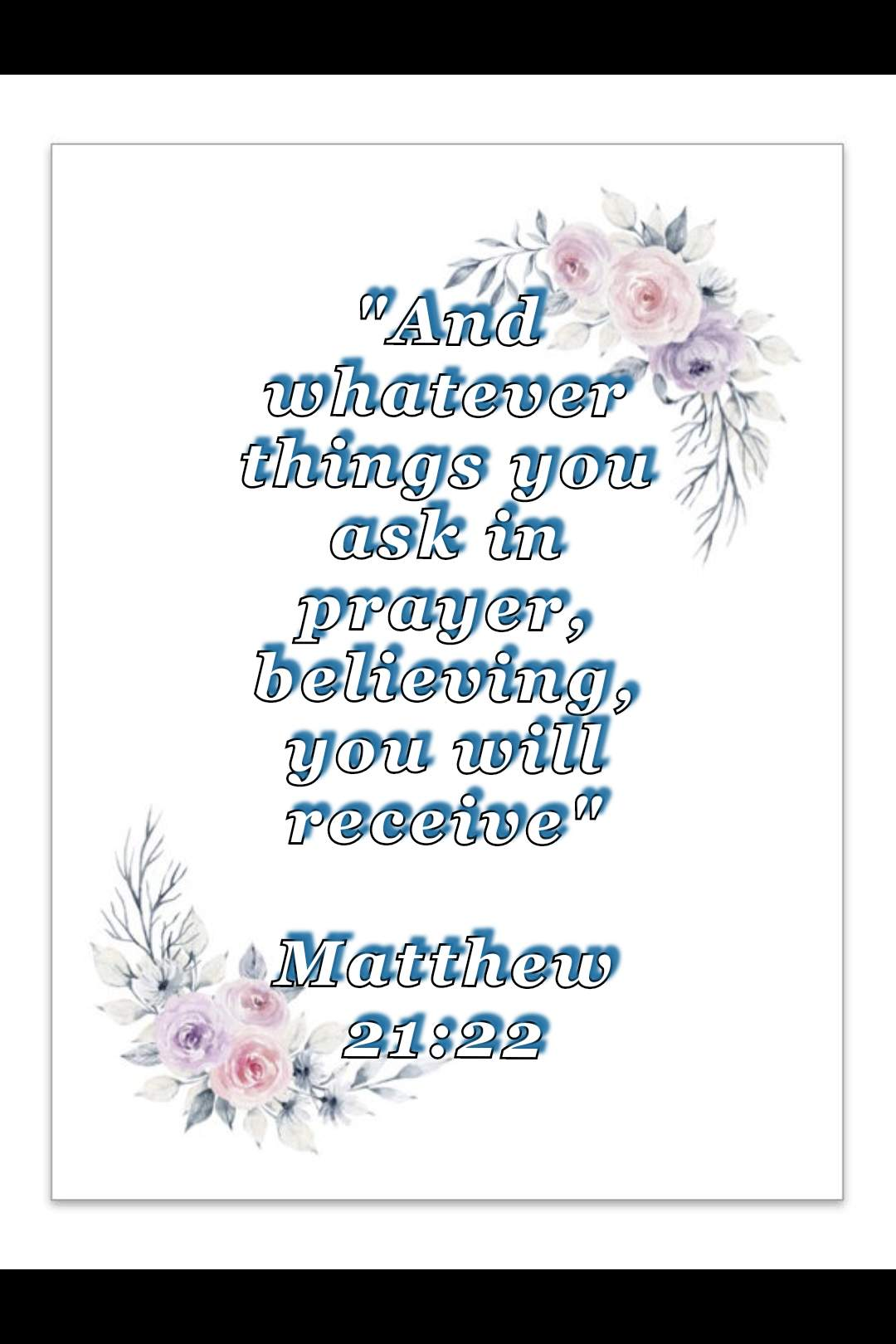 bible verse wallpaper (Matthew 21:22)
