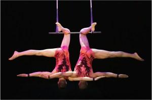 """Das """"Duo Sorella"""" am Trapez © Pressebüro Salto Vitale"""