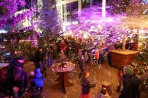Schneegestöber auf dem Wolfsburger Weihnachtsmarkt