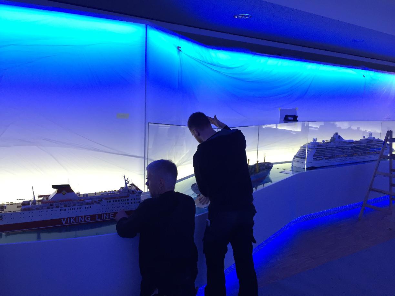 Die Modellschiffgalerie zeigt die verschiedenen Schiffstypen. (c) Patrick Anneken