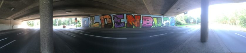 Eines von mehreren Graffitis im Stadtteil Oldenburg-Wechloy.