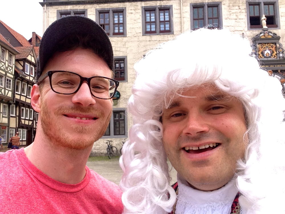Selfie mit Doktor Eisenbart in Hann. Münden