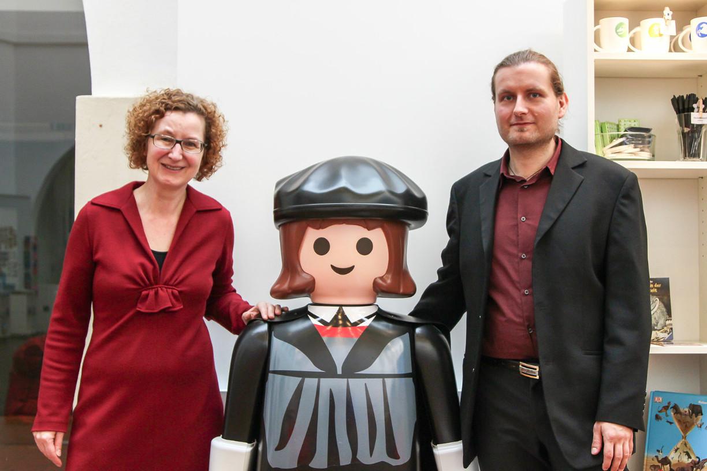 Museumsdirektorin Dr. Heike Pöppelmann und Robert Hintz, Projektleiter der Sonderausstellung freuen sich auf viele Besucher. Foto: Stephen Dietl