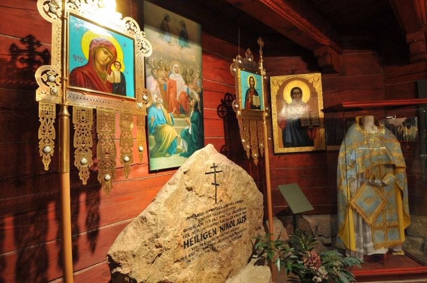 Ikonen im Untergeschoss der Kirche © Südheide Gifhorn GmbH