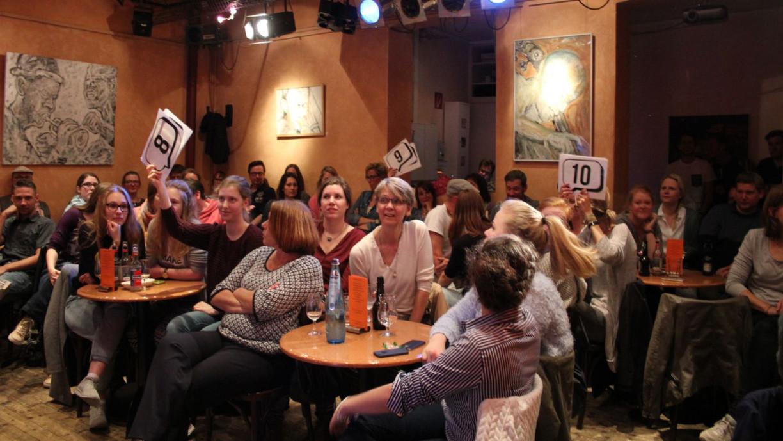 Das Publikum entscheidet über die Beiträge der Slamer