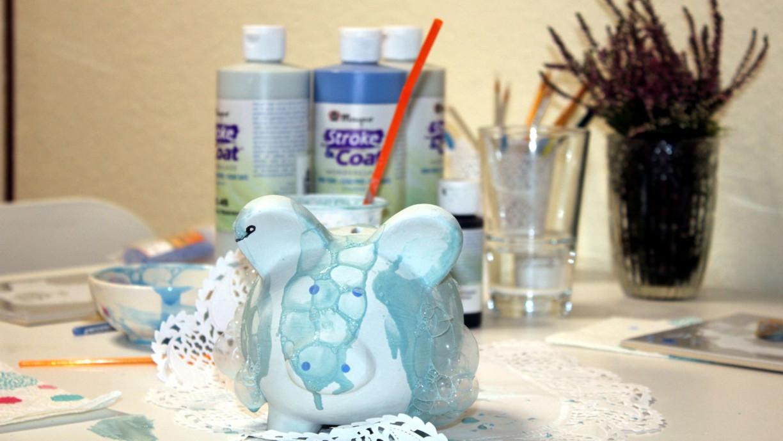 Keramik mit Blubbertechnik gestalten