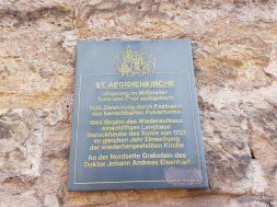 Informationsschild an der St. Aegidienkirche (c) Giel
