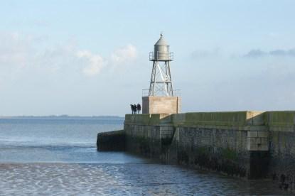 Das Molenfeuer kennzeichnet die ehemalige dritte Hafeneinfahrt © Barbara
