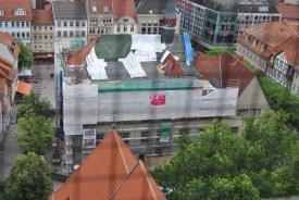 Blick vom Johanniskirchturm auf die Baustelle des Alten Rathauses (c) Michaela