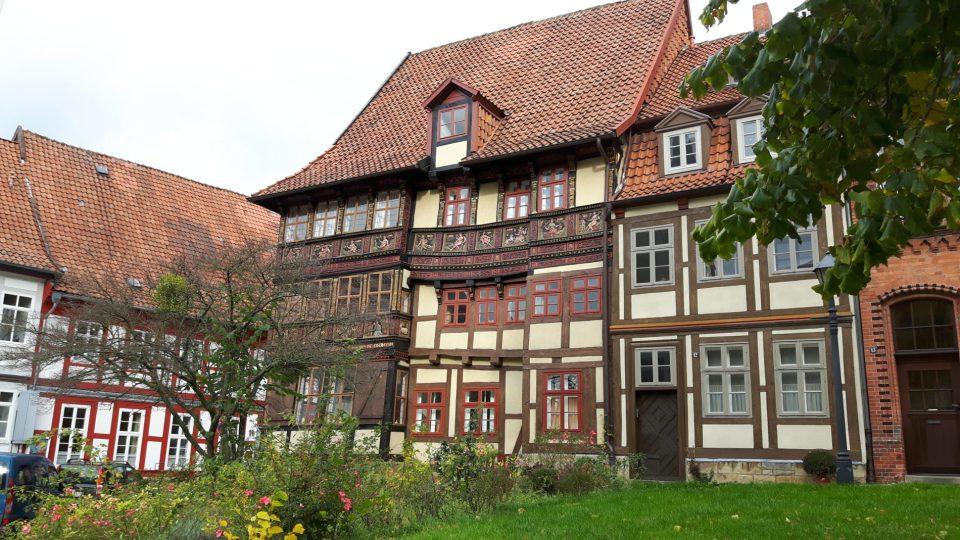 Fachwerkhäuser am Hildesheimer Godehardplatz (c) Keno Hennecke