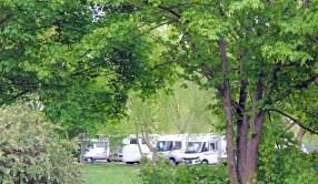 Wohnmobile auf dem Gifhorner Stellplatz an der Allerwelle