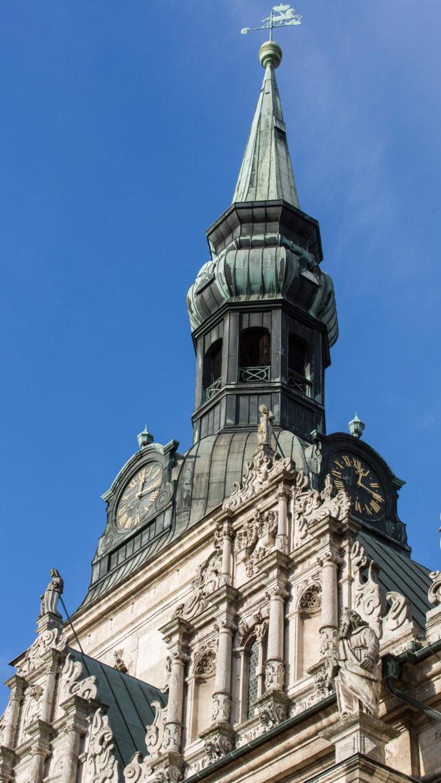 Der obere Teil des Turms der Wolfenbütteler Hauptkirche