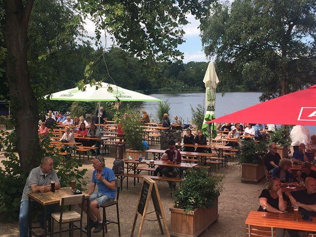 Biergarten am Haus am See in Bremerhaven
