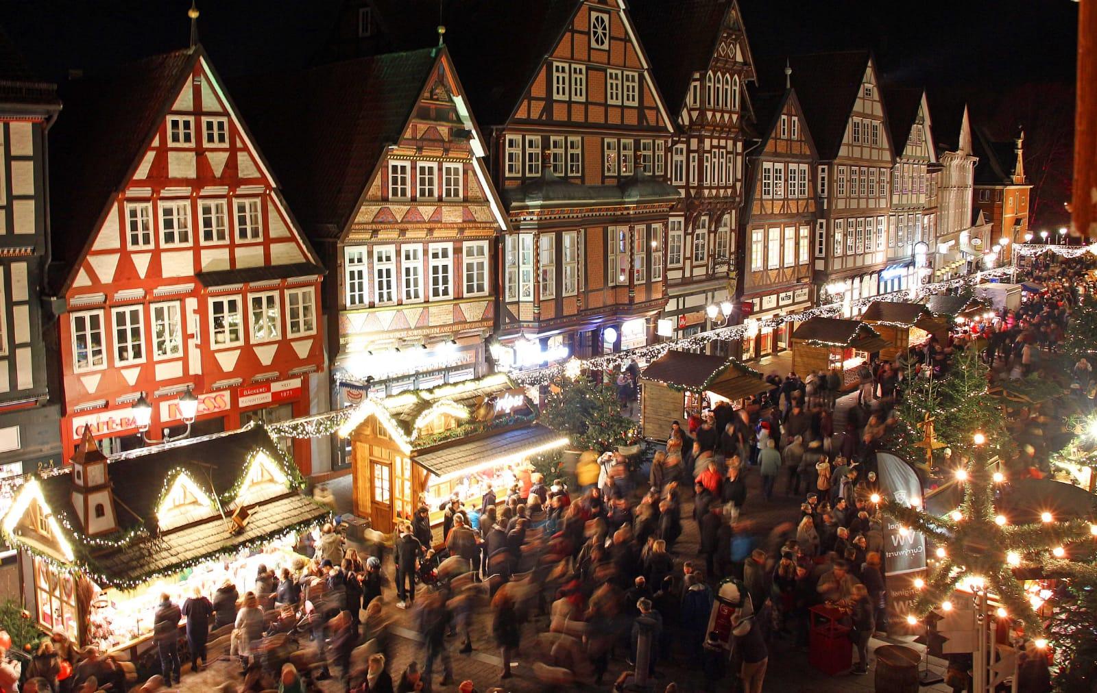 Der Weihnachtsmarkt auf der Celler Stechbahn.