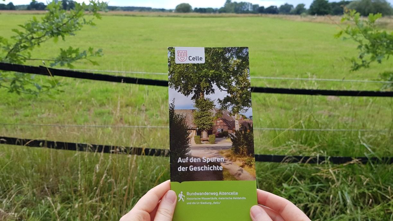 """Der Infoflyer zur Wandertour """"Auf den Spuren der Geschichte"""" - Rundwanderweg Altencelle."""