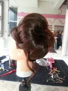 Wedding poof - side view