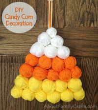 Candy Corn DIY Halloween Decoration
