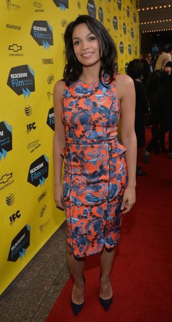 Rosario Dawson & America Ferrera Are Feeling Blue at 'Cesar Chavez' SXSW Premiere!