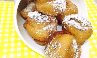 Bunuelos with White Powdered Sugar