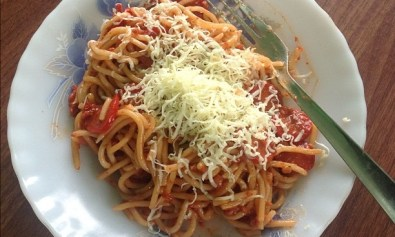 Pinoy Spaghetti for Breakfast