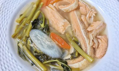 Sinigang na Salmon Belly