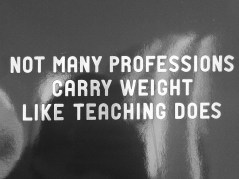 A teacher must have proposed this tagline