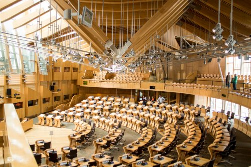 Main hall of Scottish Parliament Building