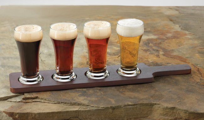 Four glasses of Nova Scotia craft beer