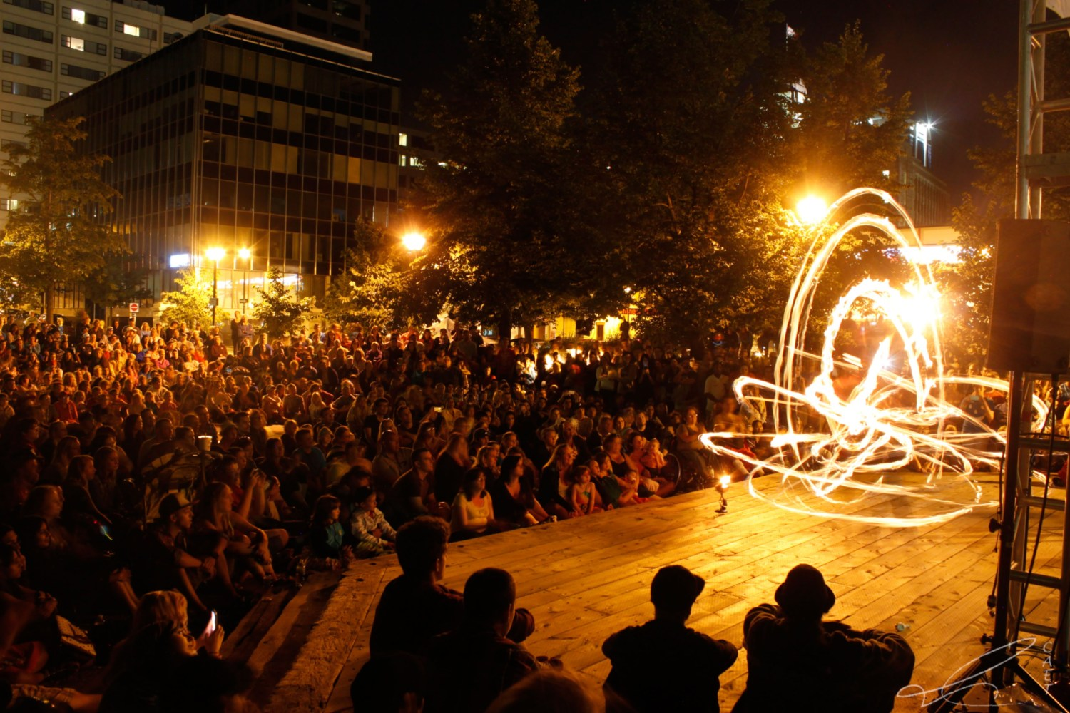Fire performers at the 2016 Halifax Busker Festival